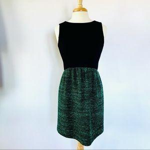 SHOSHANNA // Janine green black tweed mini dress